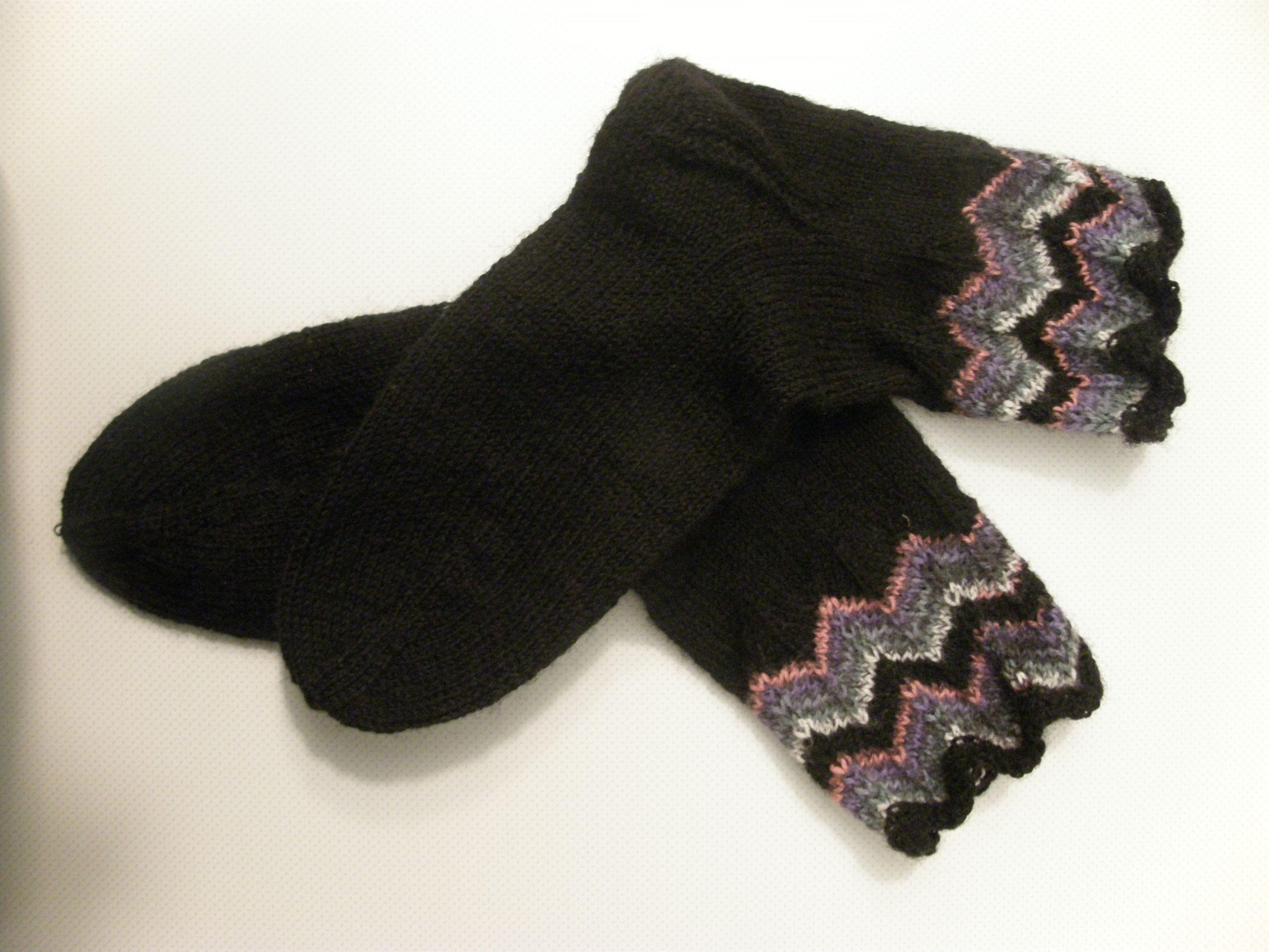 Socken mit Zackenkante - toll geeignet für Resteverwertung