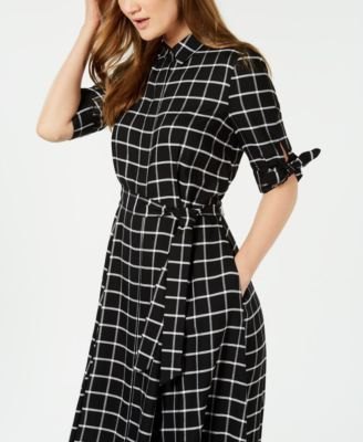 3e791553e32 Calvin Klein Plaid Maxi Shirtdress - Black 14 | Products | Shirt ...