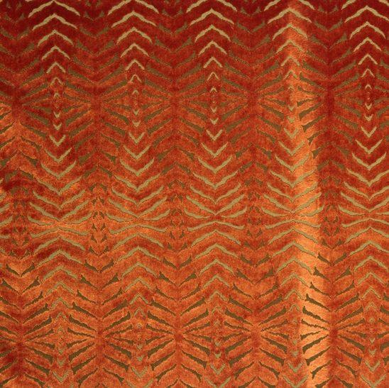 Orange Cut Velvet Fabric Modern Animal By Popdecorfabrics On Etsy