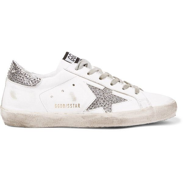 fa33c75bed05 Golden Goose Deluxe Brand Superstar Swarovski crystal-embellished... ( 935)  ❤ liked on Polyvore featuring shoes