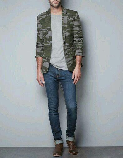Camuflaje blazer Zara