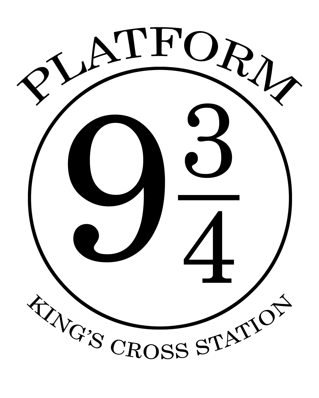 Platform 9 3 4 sign printable Useful