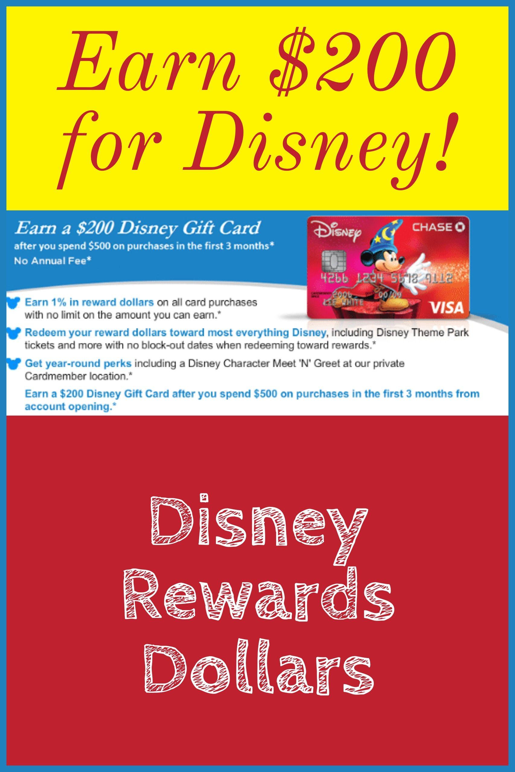 Earn a 200 disney gift card earn a 200 disney gift card