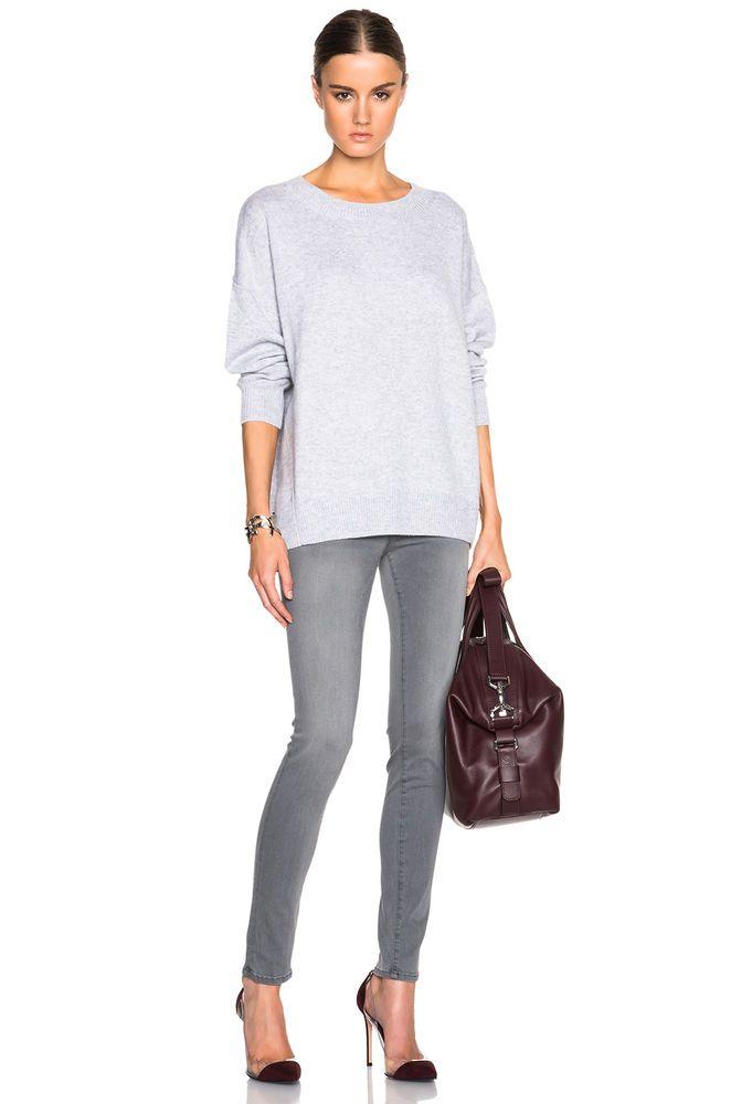 FRAME DENIM Le Skinny De Jeanne Stretch Sexy Jeans Pants Russo Grey 26 27 $219 #FrameDenim #SlimSkinny