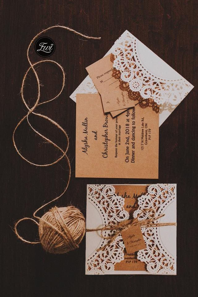 sample wedding invitation letter for uk visa%0A Inexpensive rustic laser cut wedding invitation with tag EWWS