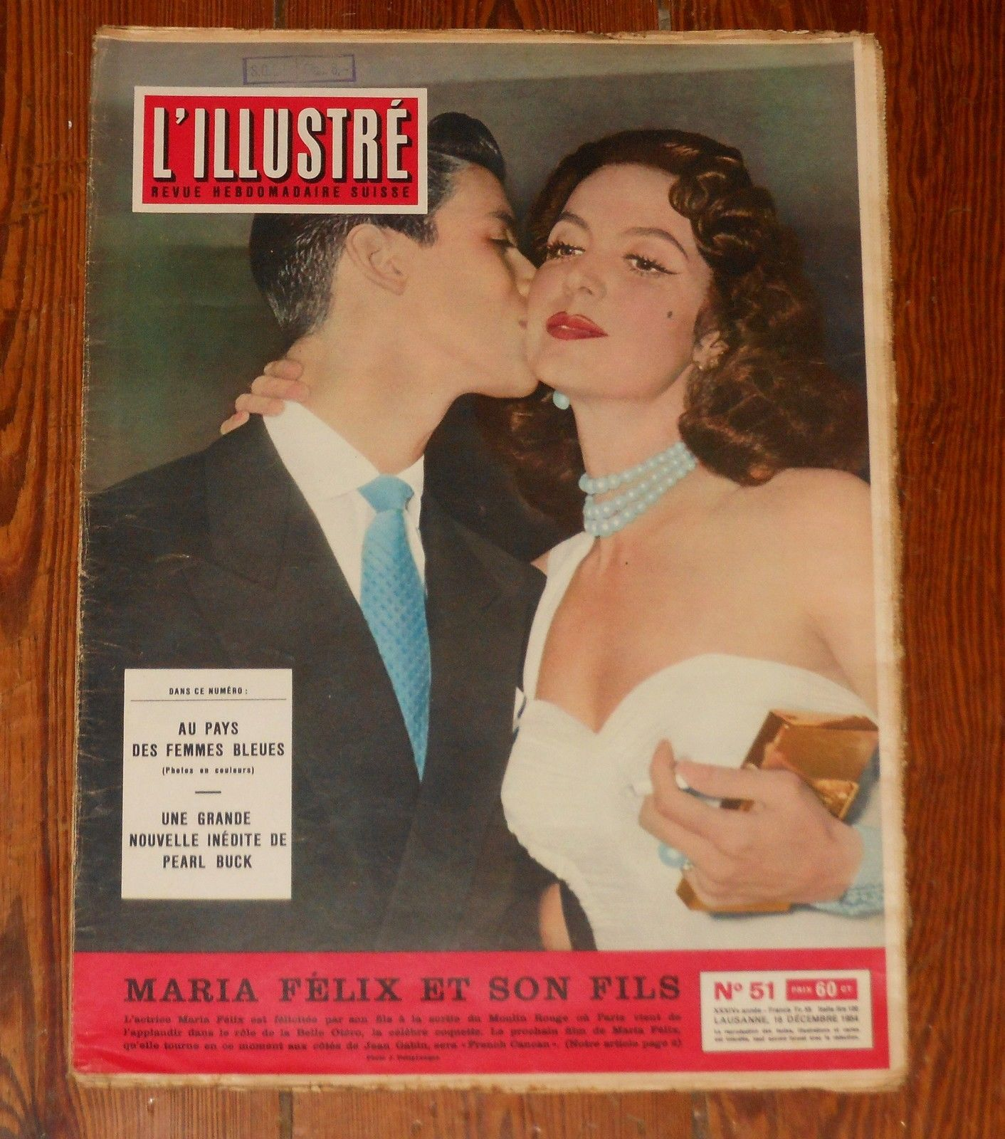 L'ILLUSTRE #51 1954 Maria Felix miss world suisse magazine Onassis vintage ads | eBay