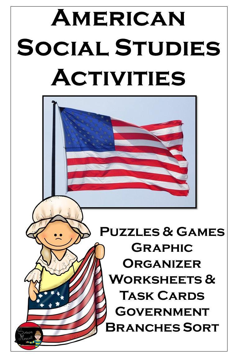 American Social Studies Activities Bundle In 2020 Social Studies Activities Social Studies Activities