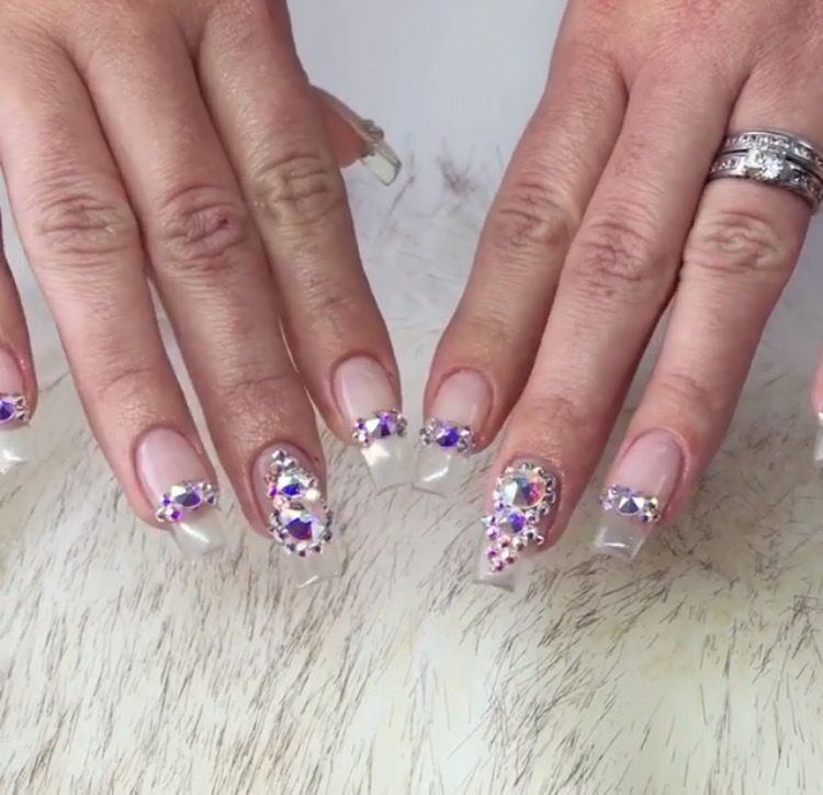 Jeweled Acrylic Nails | Best Nail Designs 2018