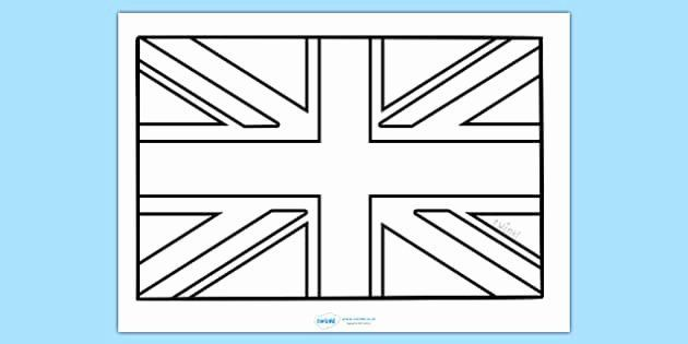 England Flag Coloring Page Unique Free Union Flag Colouring Sheet