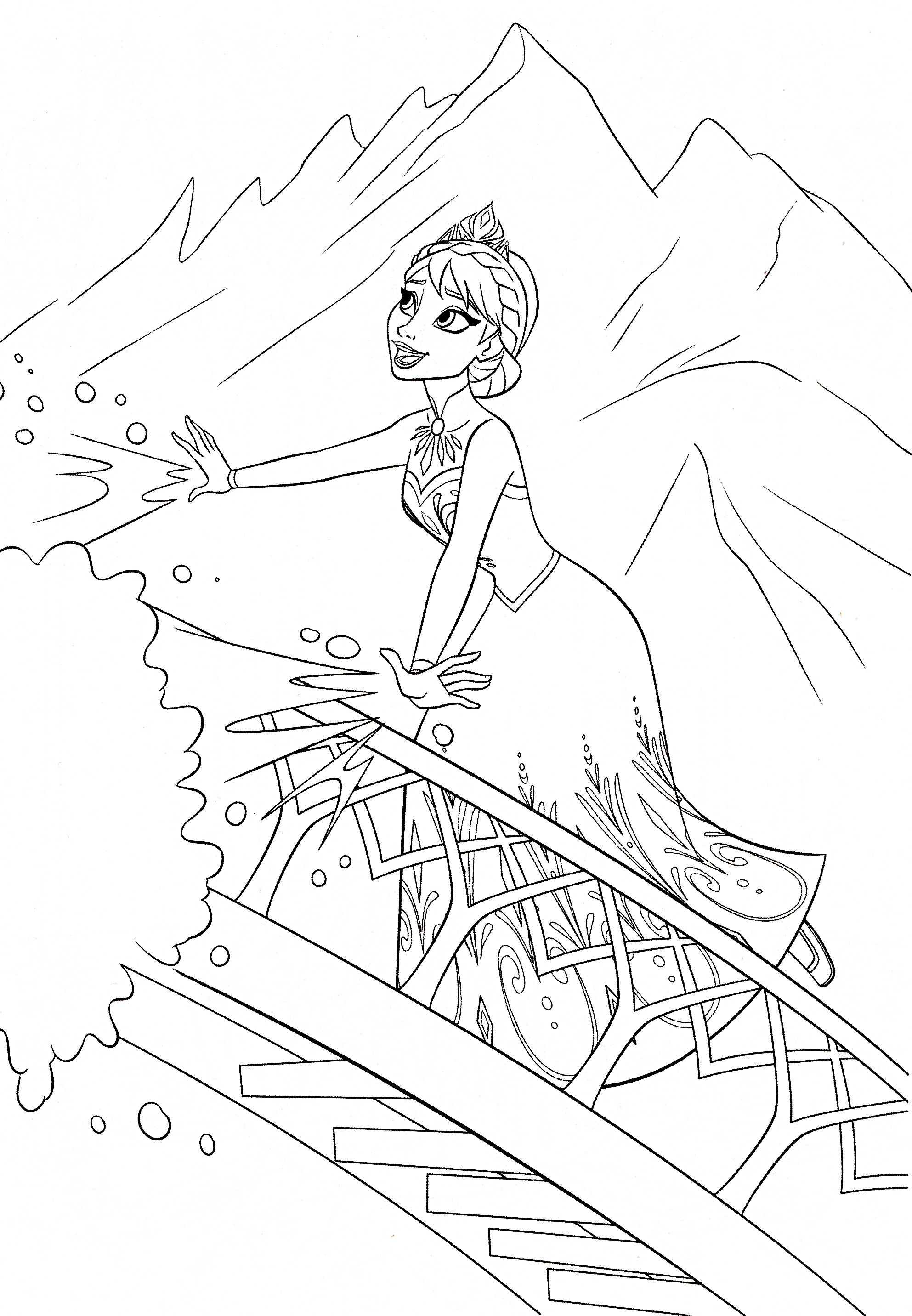 Frozen Disney Para Colorir Princesa Do Gelo Pintar