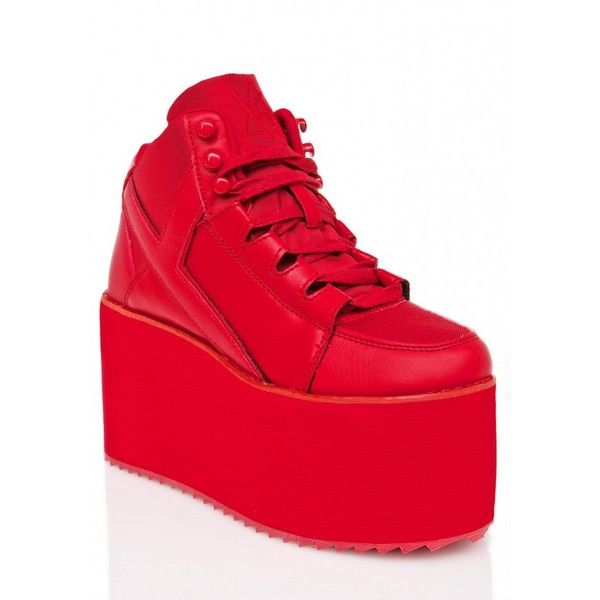 116cc4a60139 Y.R.U. Redd Hot Qozmo Platform Sneakers ( 110) ❤ liked on Polyvore  featuring shoes