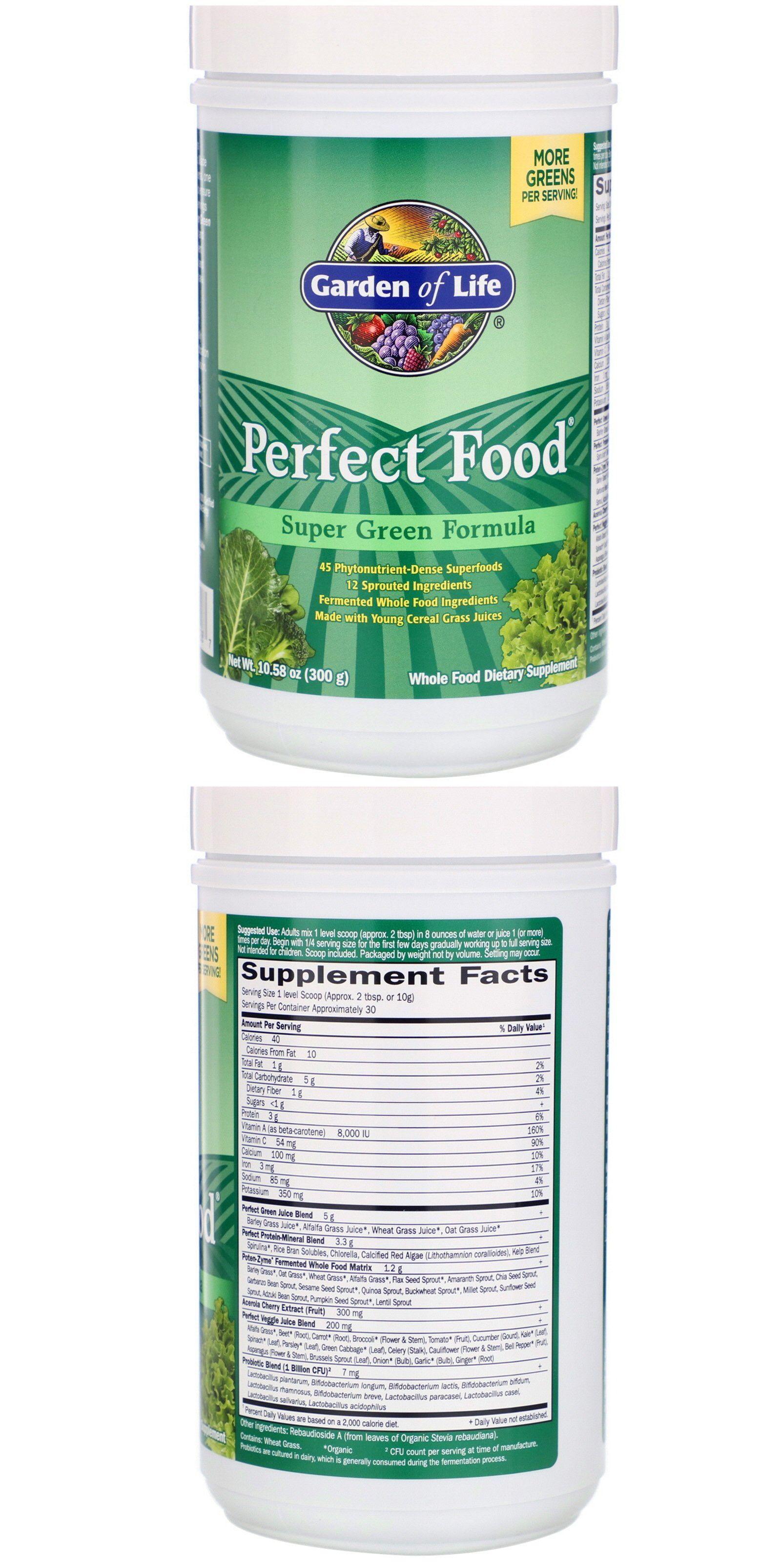 Perfect Food Super Green Formula 10 58 Oz 300 G In 2020 Super Greens Perfect Food Organic Cereal