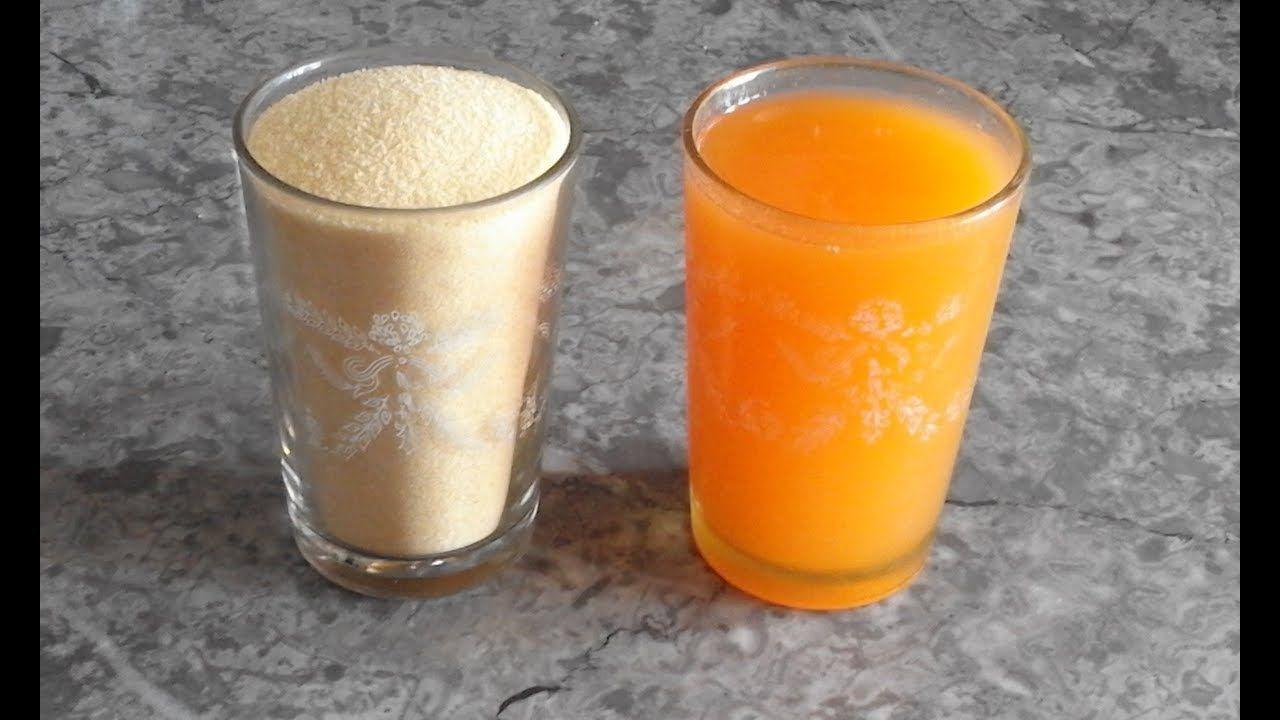 عندك كأس سميدة وكأس عصير برتقال صاوبي أسهل وألذ وصفه في 10 دقائق Youtube Glassware Tableware Glass