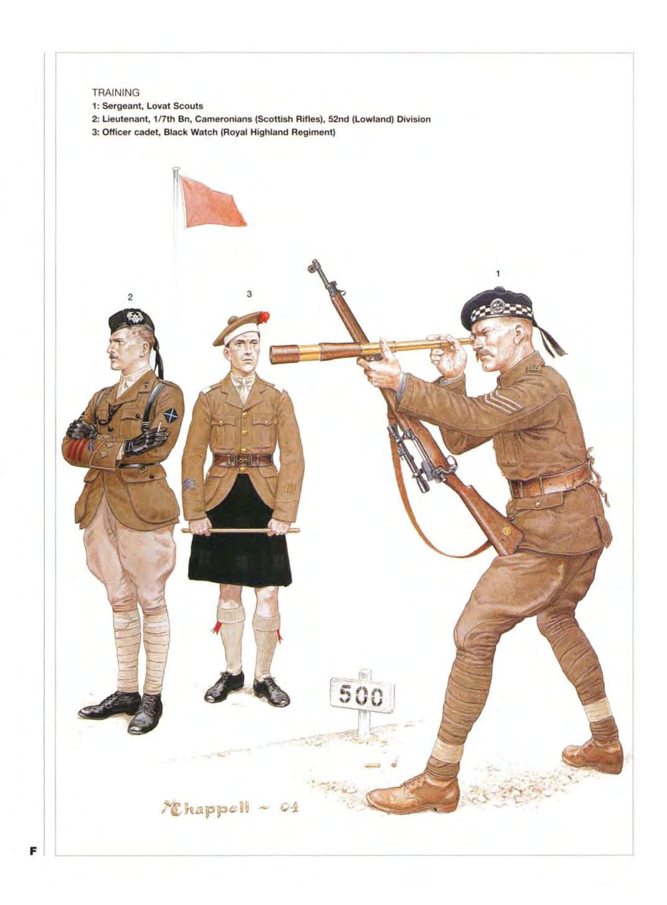 Training 1 Sergeant Lovat Scouts 2 Lieutenant 1 7th Bn Cameronians Scottish Rifles 52nd Lowland Divis Army Poster Military History Military Diorama