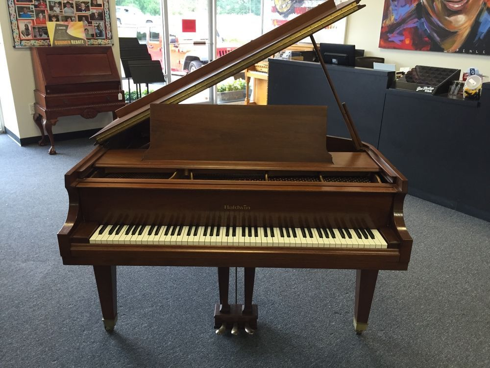 "Walnut Baldwin Model M Baby Grand Piano 5'2"" ca"