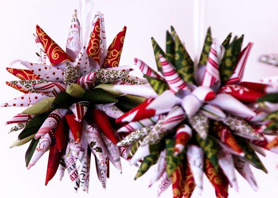 Paper Christmas Ornament Polish Star Upcycled by Hul\u2026 DIYs, FYIs - polish christmas decorations