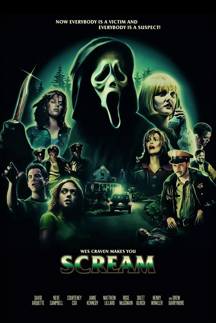 Scream By Ralf Krause In 2020 Alternative Movie Posters Scream Movie Music Illustration