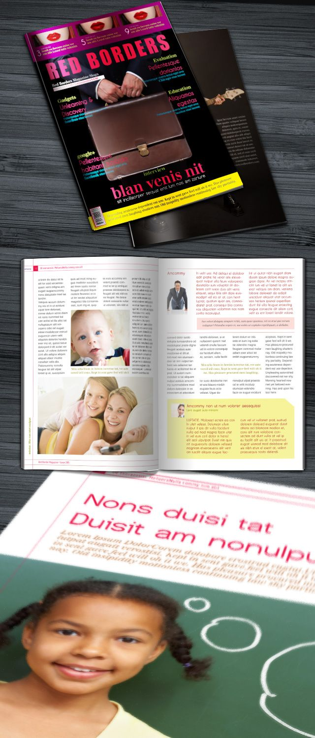 Free InDesign Magazine template, neutral theme for any type of ...