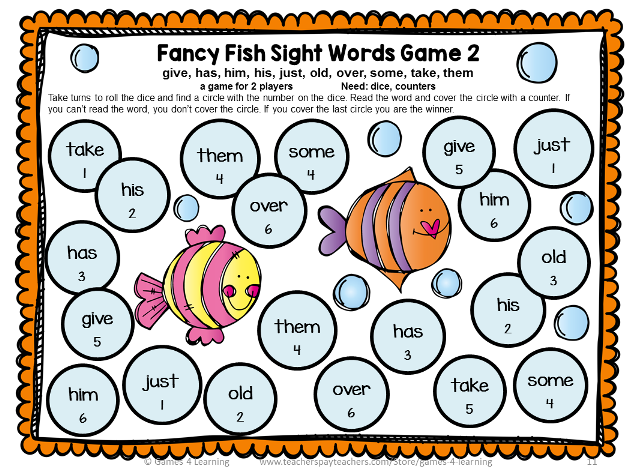 Dolch Sight Words Games First Grade List Word games