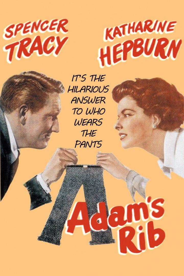 Adam's Rib (1949) Vintage Movie Poster   Movie posters vintage ...