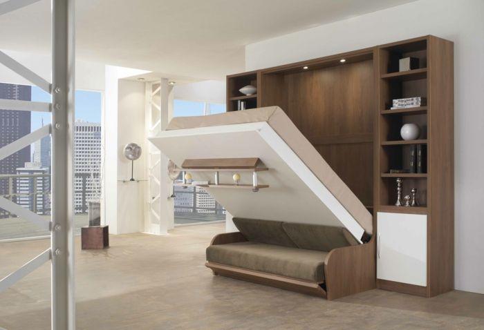 le lit abattant belles solutions pour sauver d 39 espace lit relevable petites. Black Bedroom Furniture Sets. Home Design Ideas