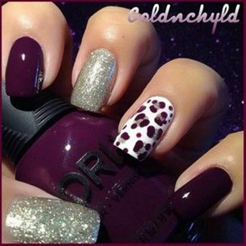 Very cute fall nails | Nails, Nails, Nails!! | Pinterest | Leopard ...