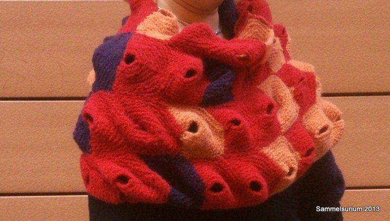 Stola, scarf, knitting, 3d, modular knitting, modern knitting