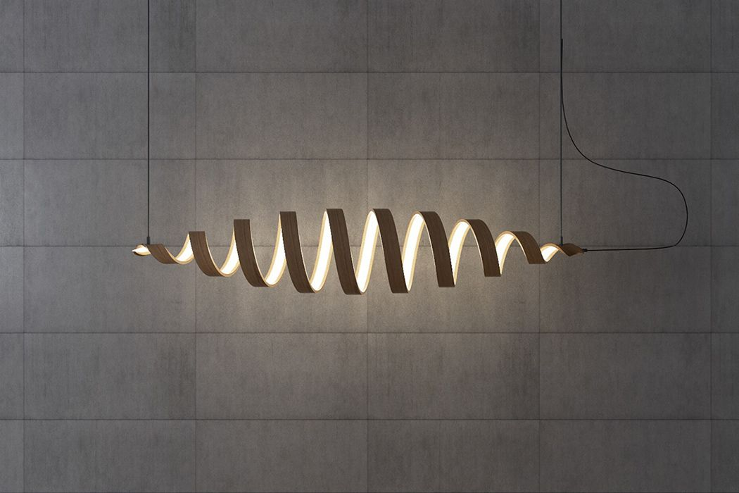 Light may travel in a straight line but the Spiral lamp collection