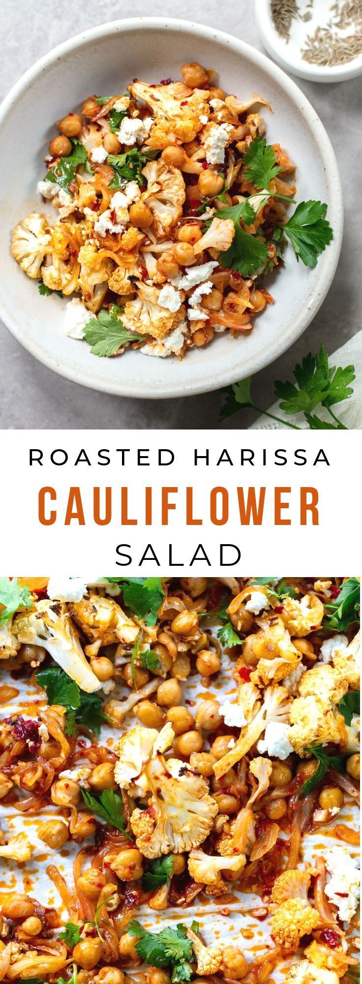 Photo of Fried cauliflower salad with harissa chickpeas: a light, flavorful …