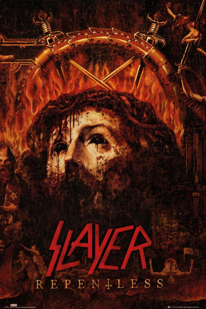 Slayer Repentless - Official Poster. Official Merchandise. Size: 61cm x 91.5cm. FREE SHIPPING