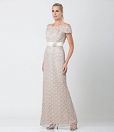 2a6fa77570a JS Collections Lace OfftheShoulder Gown  Dillards