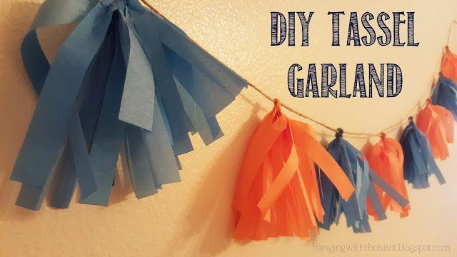Easy DIY Tissue Paper Tassel Garland