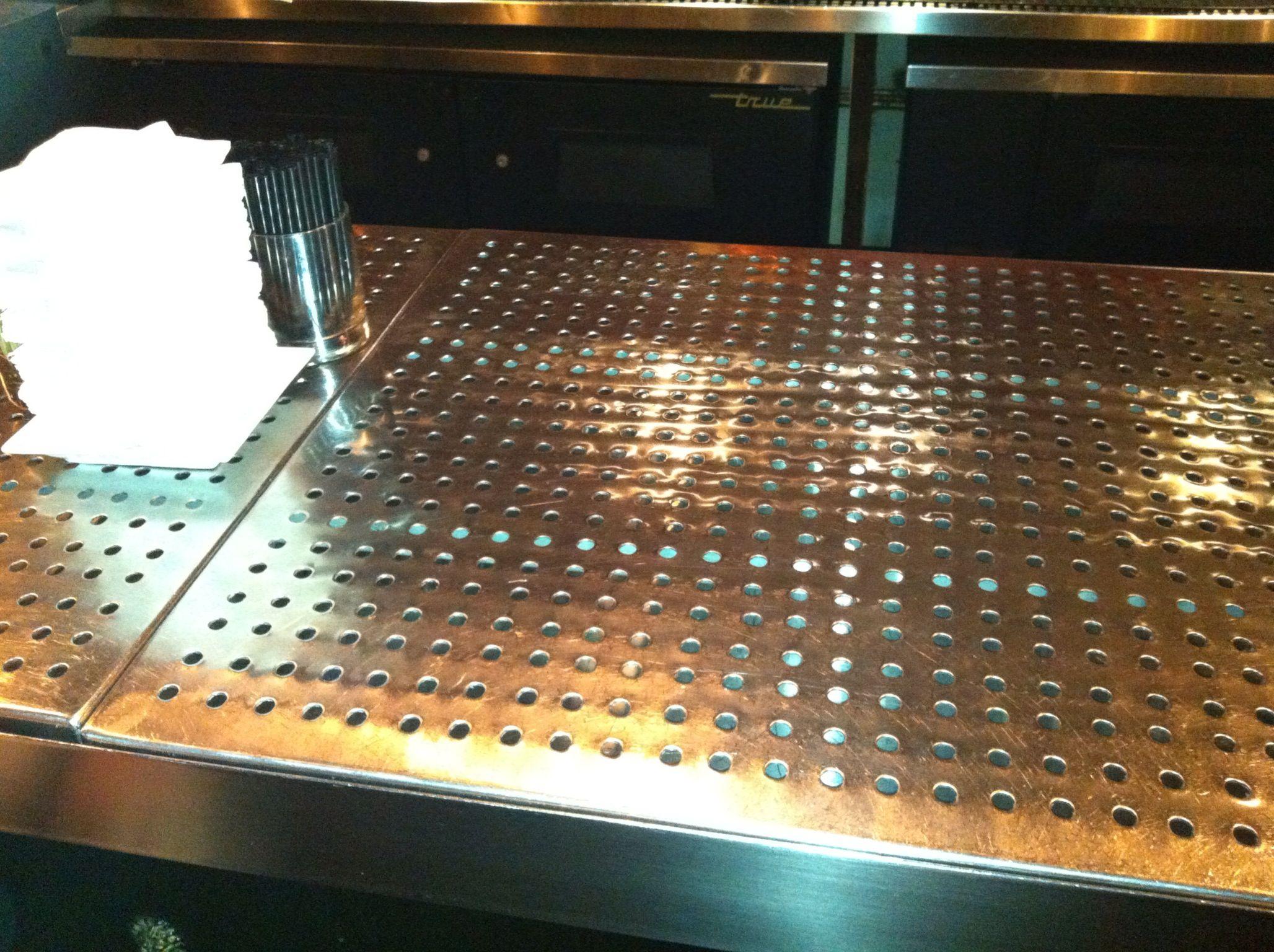 Drain Away Bar Top