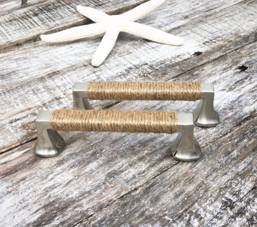 Beach House Decorative Handles Rope Drawer Pulls Cabinet Handles