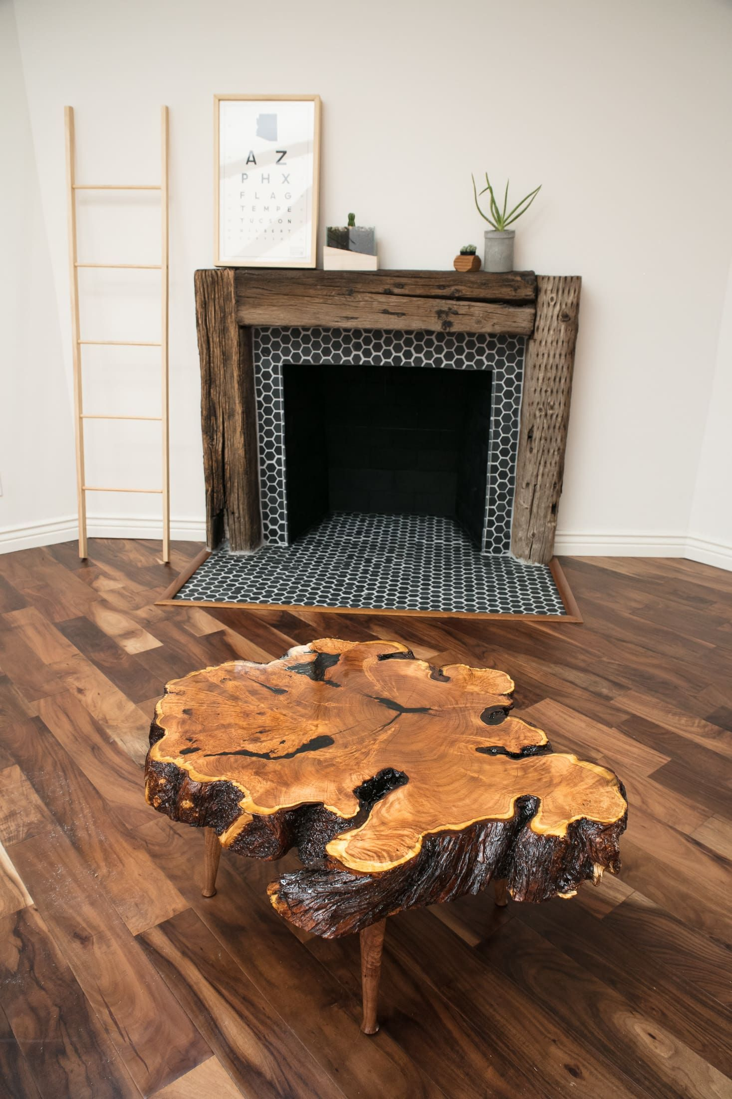 Rustic Mesquite Live Edge Coffee Table By Lumberlust Designs Seen At Carefree Drive Cave Creek Az Cave Creek Live Edge Coffee Table Mesquite Furniture Coffee Table