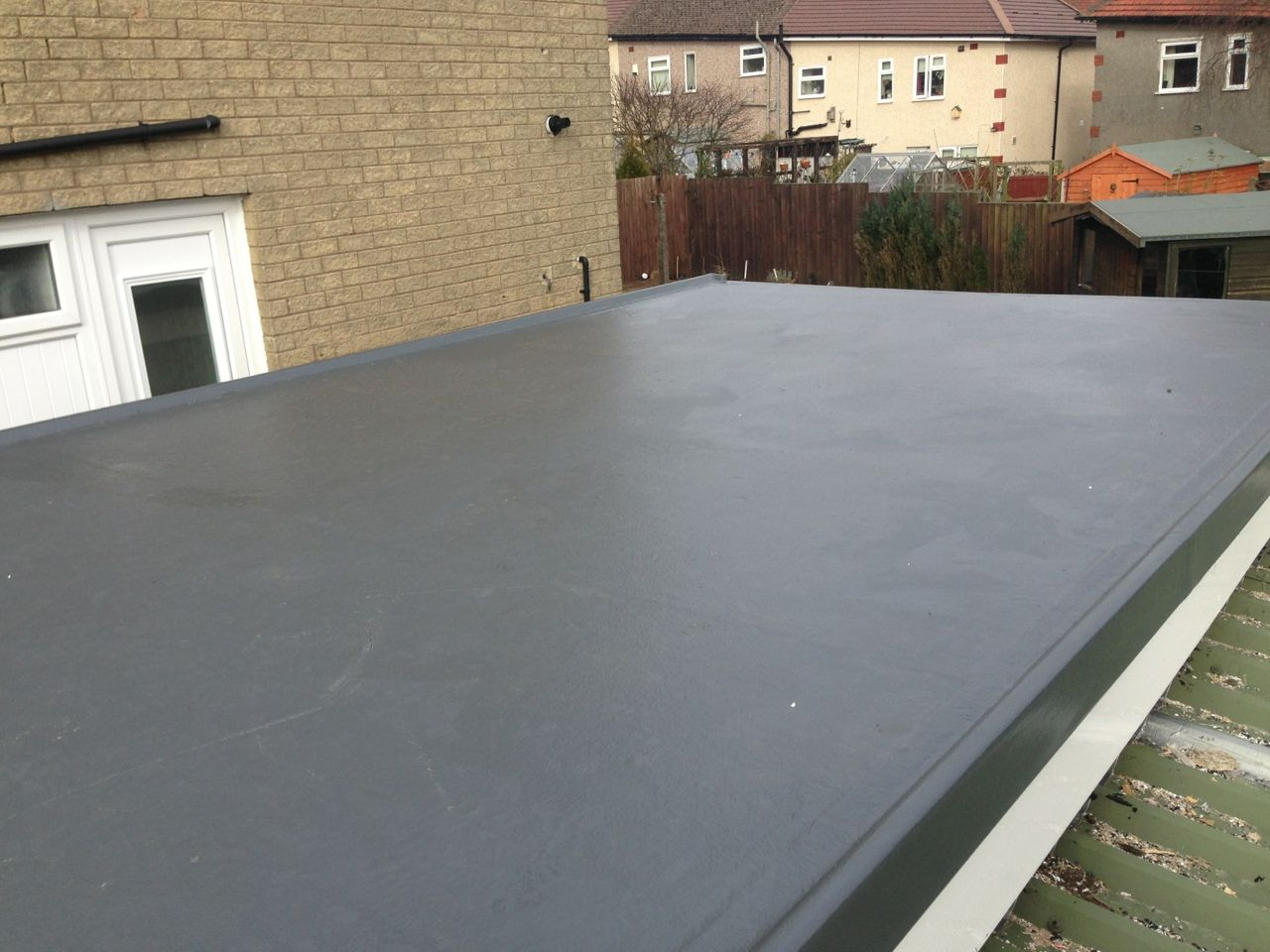 Garage Roof Refurbishment Achieved With A Grp Roofing