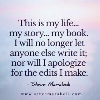 BE THE AUTHOR OF YOUR OWN STORY