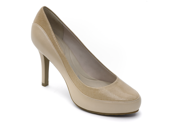 Rockport Seven to 7 High Color Block Pump  NUDE SUEDE/PEARLIZED Size: 8.5