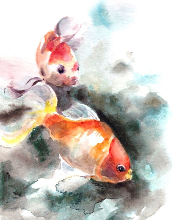 Orange You Happy By Vickie Wade On Etsy Aquarell Fisch Fisch