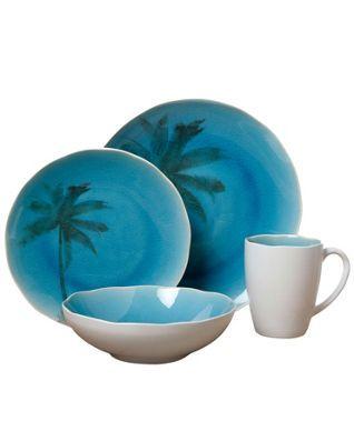 Florida Marketplace 4-pc. Palm Crackle Set  sc 1 st  Pinterest & Florida Marketplace 4-pc. Palm Crackle Set | dishware | Pinterest ...