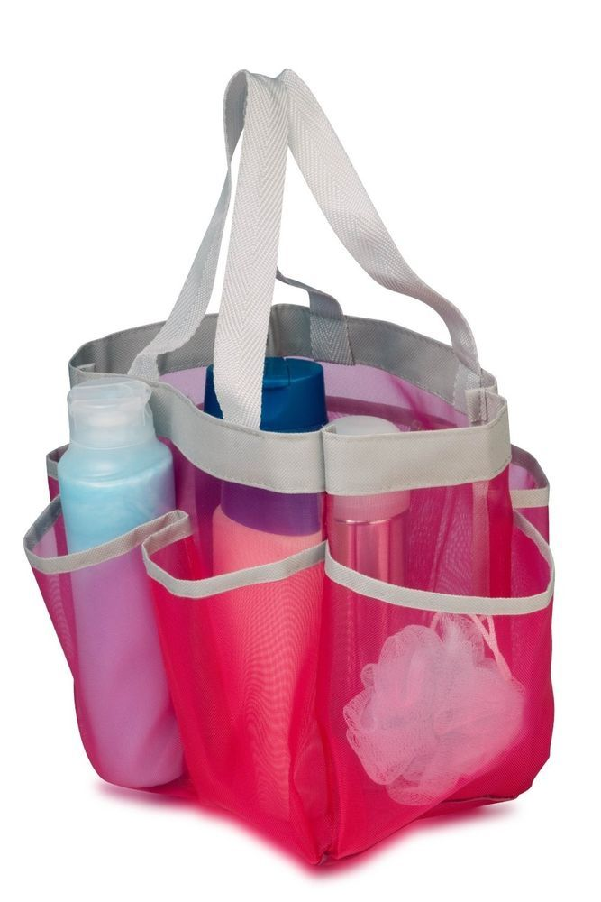 portable shower caddy college gym dorm travel hanging bag mesh tote bathroom bathroom ideas. Black Bedroom Furniture Sets. Home Design Ideas