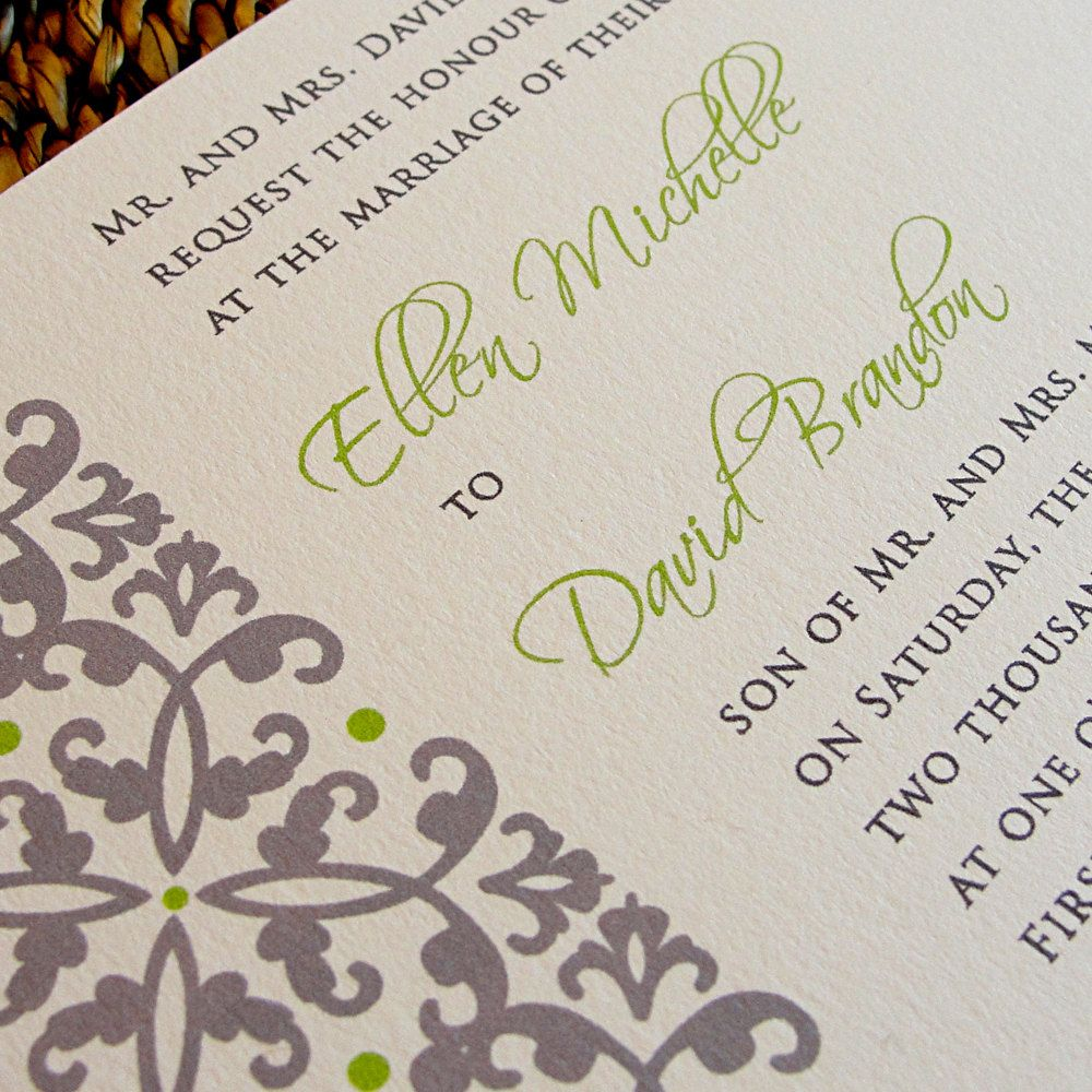 Flourish Damask Horizontal Clean Simple Masculine Spring