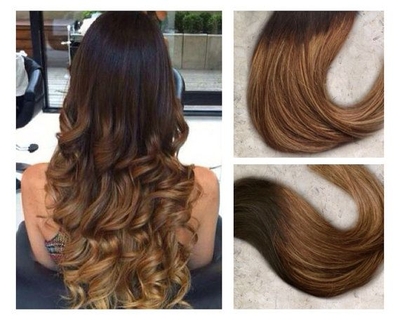 Full set ombre hair extensions caramel ombre extensions full set ombre hair extensions caramel ombre extensions black to caramel brown to caramel remy clip in hair extensions pmusecretfo Gallery