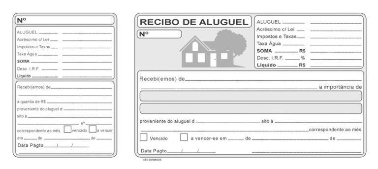 Recibo De Aluguel De Imoveis Modelos Imprimir Preencher Em 2020