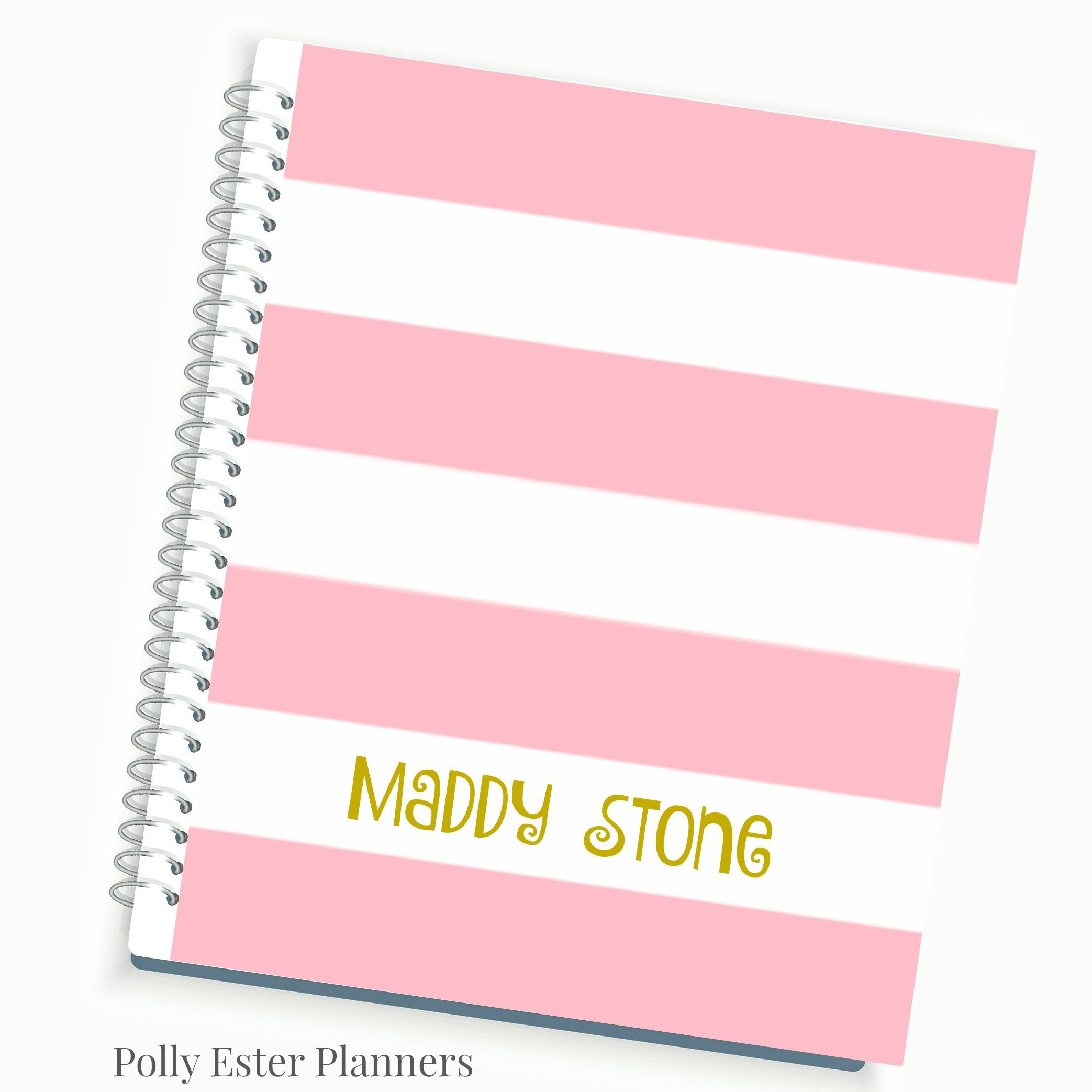 Clic Pink Stripe 2016 Daily Planner With Personalized Cover Weekly Monthly Agenda