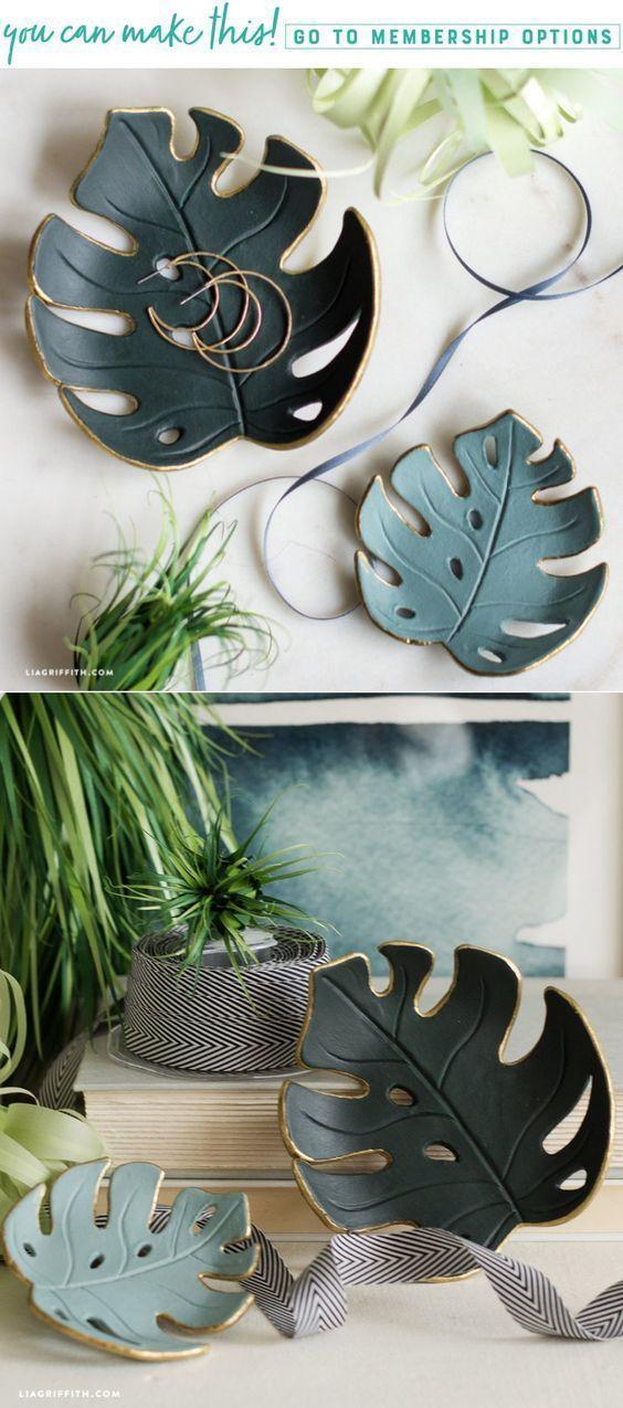 Make a simple DIY Monstera bowl for your home - Lia Griffith… - Diyjewelryeasy.club#bowl #diy #diyjewelryeasyclub #griffith #home #lia #monstera #simple