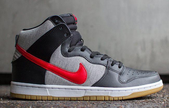 Nike Sb Dunk High Pro Heather Grey Nike Sb Dunks Nike Sneaker Magazine