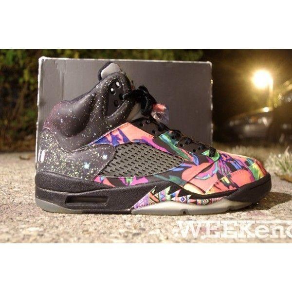 e660d61b584ad1 AIR JORDAN 5 (FRESH PRINCE OF BEL-AIR) Sneaker Freaker ❤ liked on Polyvore  featuring jordans