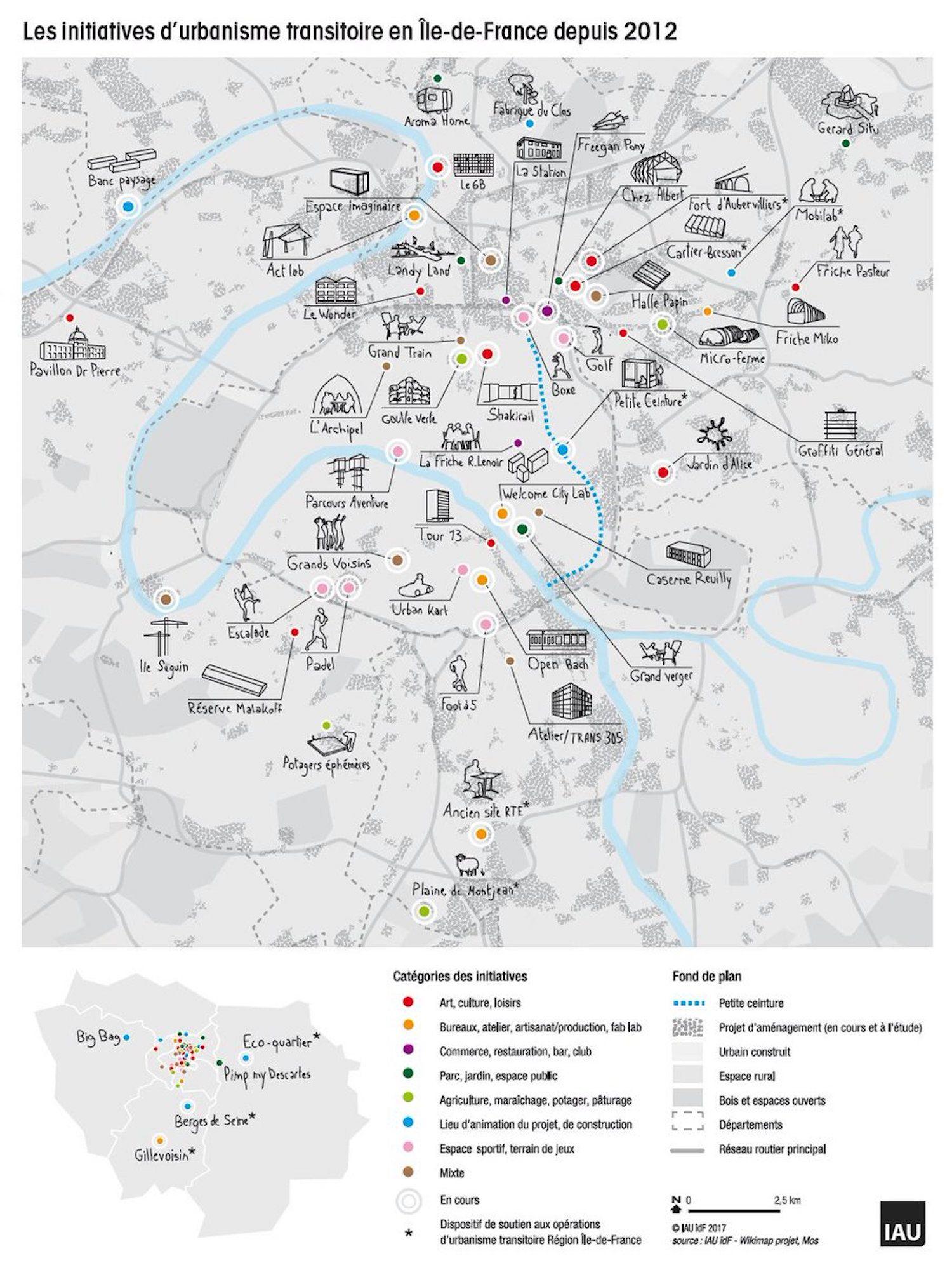 Carte De L Urbanisme Transitoire Dans Le Grand Paris C Iau
