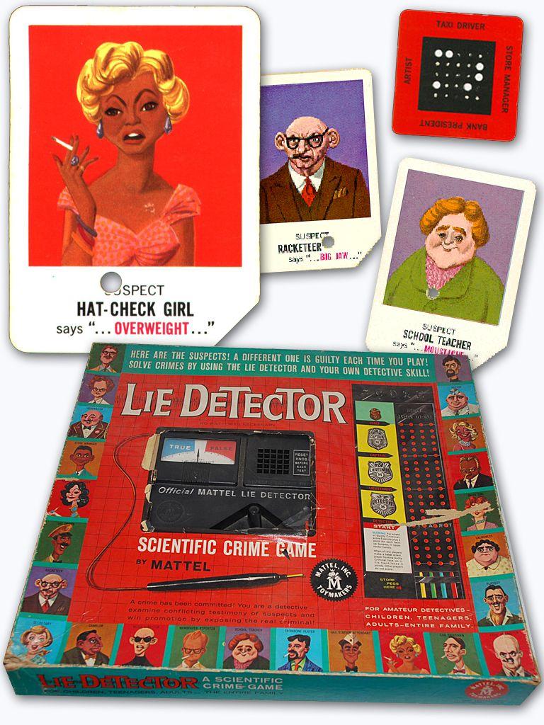 1960 Mattel Introduces Lie Detector The Scientific Crime Game We